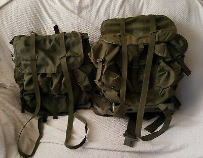 Two Medium US Army Alice Packs And Frame