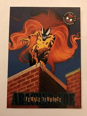 Spider-Man Premium '96 Fleer SkyBox Card #13 Female Symbiote