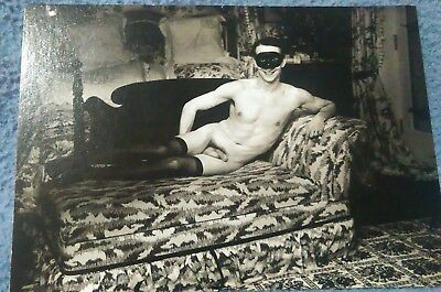 """Gay Male Nude Vintage Postcard. Chuck Samuels """"After Bellocq"""" 1991 AMSTERDAM"""