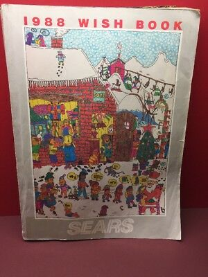 Vintage Sears Wish Book Catalog 1988 Christmas Toy & Clothing Advertising 1980s