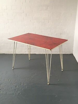 Kandya table with Lucienne Day laminate, 1950s retro vintage midcentury 1960s