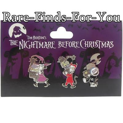 Disney Parks Nightmare Before Christmas Shock Lock Barrel 3-Pin Booster Pack Set