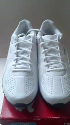 518a12f53b96 Puma Tazon 6 Fm Men s White Synthetic Athletic Lace Up Training Shoes 10.5