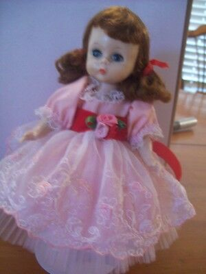 """VINTAGE MADAME ALEXANDER 8""""  BKW DOLL TAGGED  """"WITH LOVE by Madame Alexander """""""
