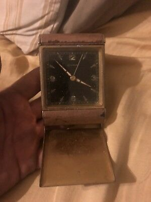 """Vintage """"CYMA"""" Watch Co. Swiss Made Travel Alarm Clock FOR PARTS OR REPAIR!"""