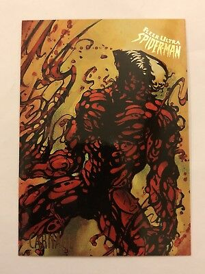 Spider-Man Fleer Ultra 1995 Marvel Card #12 Carnage