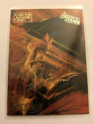 Spider-Man Fleer Ultra 1995 Marvel Card #18 Demogoblin Gold Foil Signature