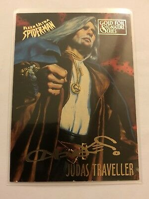 Spider-Man Fleer Ultra 1995 Marvel Card 31 Judas Traveller Gold Foil Signature