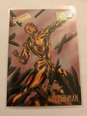 Spider-Man Fleer Ultra 1995 Marvel Card #38 Molten Man Gold Foil Signature