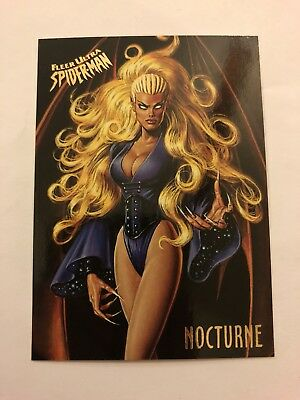 Spider-Man Fleer Ultra 1995 Marvel Card #41 Nocturne