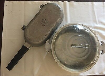 """Guardian Service Ware Omelet Fish Fry Pan And 9"""" Stock Pot With Lid"""