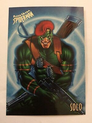 Spider-Man Fleer Ultra 1995 Marvel Card #53 Solo