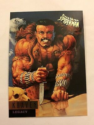 Spider-Man Fleer Ultra 1995 Marvel Card #64 Kraven