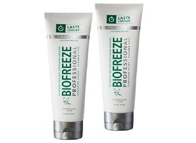 2 Tube Of Biofreeze Professional Pain Relieving Gel (Colorless) 4OZ-Depend On Us