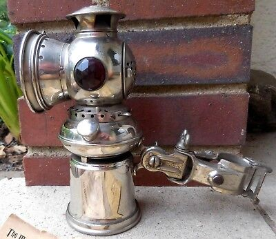 Antique Carbide / Acetylene Bicycle Lamp THE MAJESTIC with PARTIAL BOX