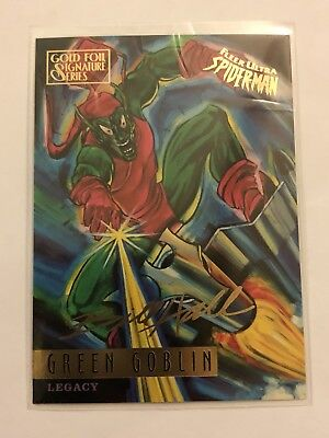 Spider-Man Fleer Ultra 1995 Marvel Card #79 Green Goblin Gold Foil Signature