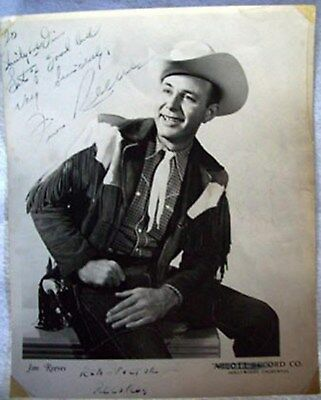 Jim Reeves Signed Photo - Early Abbott Records To RCA Victor - Rare!