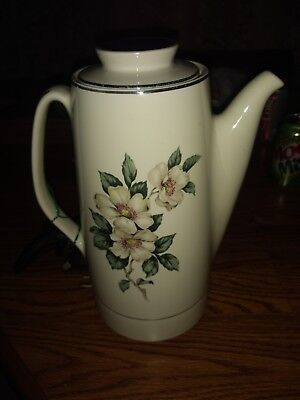 Vintage Hall China Electric Coffee Pot ~ Magnolia Pattern ~ Excellent Condition!