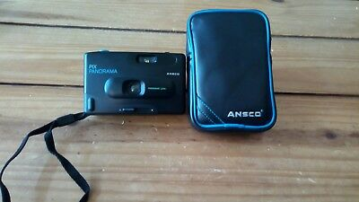 Vintage ANSCO Pix Panorama Compact 35mm Film Camera w/ Panoramic Lens e1