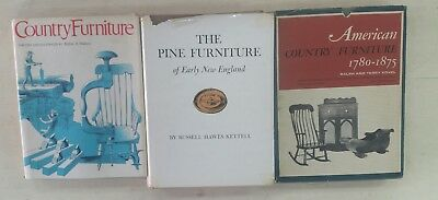 Lot of 3 antique American pine/country furniture books/Watson/Kettell/Kovel