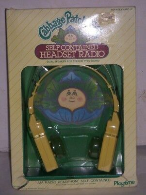 "Rare Cabbage Patch Kids ""Self Contained Headset Radio"" unopened"