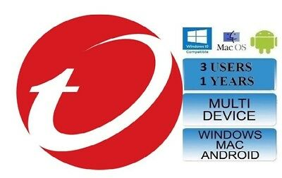 Trend Micro Maximum Security 15 (2018) 1 Years Licence 3 Devices