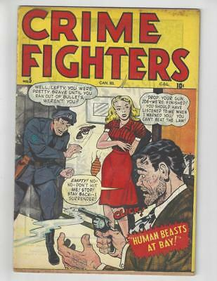 Crime Fighters #5/Golden Age Comic Book/Canadian Edition/VG+