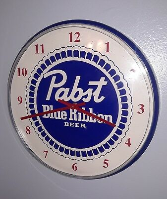 Vintage Pabst Blue Ribbon Advertising Clock