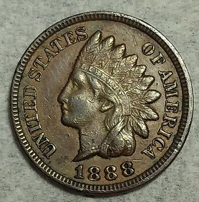 About Uncirculated 1888 Indian Head Cent! Sought after date!