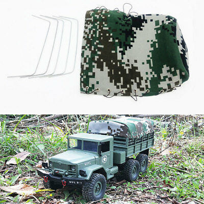 Canvas Truck Hood Cover Cloth For RC Car 1:16 WPL B-16/B24 Military Vehicle Rope