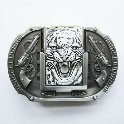 Men Belt Buckle Tiger Guns Lighter Belt Buckle also Stock in US