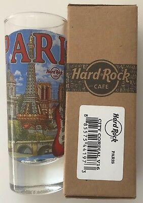 Hard Rock Cafe PARIS CITY T-SHIRT New SHOT GLASS in HRC BOX