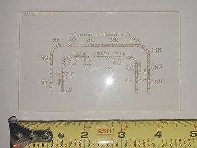 Vintage Rca Victor Model 5T Radio Dial Plexiglass Face 27439 Replica