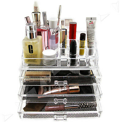 Clear Display Storage Organizer for Makeup Cosmetics Jewelry Grids Type A