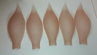 Set Lot 5 Antique Art Deco Slip Shade For Sconce Or Chandelier Glass Replacement
