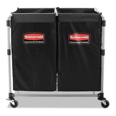 Collapsible X-Cart, Steel, 2 to 4 Bushel Cart, 24 1/10w x 35 7/10d, Black/Silver