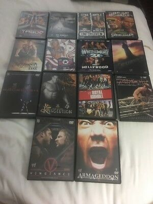 2005 Wwe Dvd Lot Complete