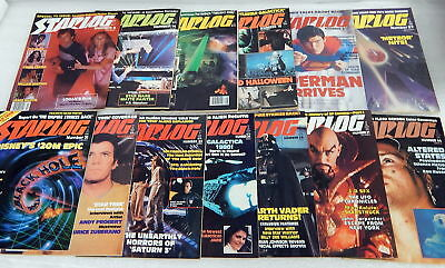 Vintage Starlog Magazine Of The Future Lot TV Movies Science Fiction Horror