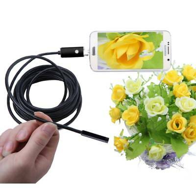 7mm Lens Car Inspection Camera Endoscope 6LED Borescope 2/5/7M For Android NEW