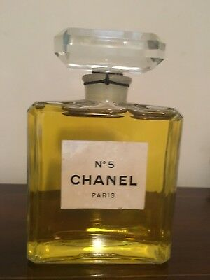 HUGE Factice CHANEL No5 Dummy 200ml Vintage 1970s Rare 13.5cm Bottle