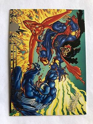 Spider-Man Fleer Ultra 1995 The Venom Flows Marvel Card #102