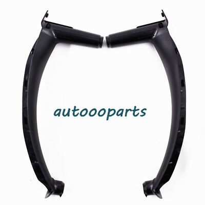 Black Inner Door Panel Handle Pull Trim Cover For BMW E70 X5 E71/E72 X6 PAIR