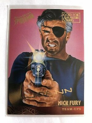 Spider-Man Fleer Ultra 1995 Team Ups Marvel Card #123 Nick Fury