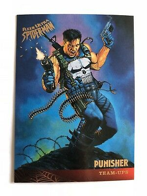 Spider-Man Fleer Ultra 1995 Team Ups Marvel Card #125 Punisher