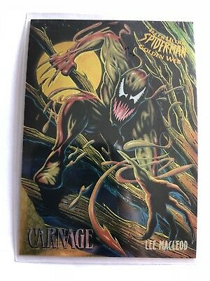 Spider-Man Fleer Ultra 1995 Limited Edition Golden Web Marvel Card #2