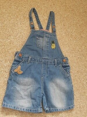 ZARA Girls Denim Dungarees Playsuit Shorts Age 3-4 years/excellent condition