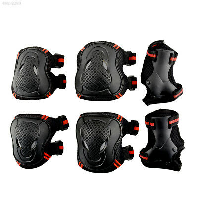 6pcs Skateboard Cycling Elbow Knee Wrist Protective Safety Pad Guard Unisex Hot