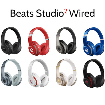 Beats Studio 2 0 Wired Over Ear Headphones Matte Black Gold White Silver Red 99 00 Picclick
