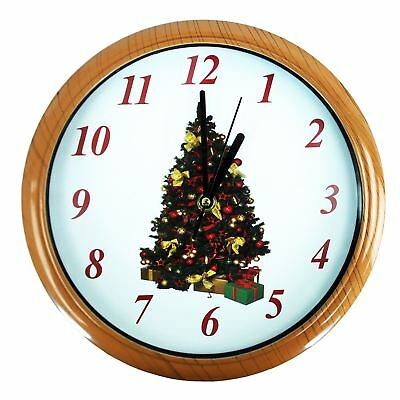 Musical Christmas Clock - Plays many classic Christmas tunes on the hour