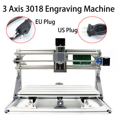 3 Axis Mini CNC 3018 Router Wood Carving Engraving DIY 3D Cutter Machine US Sale